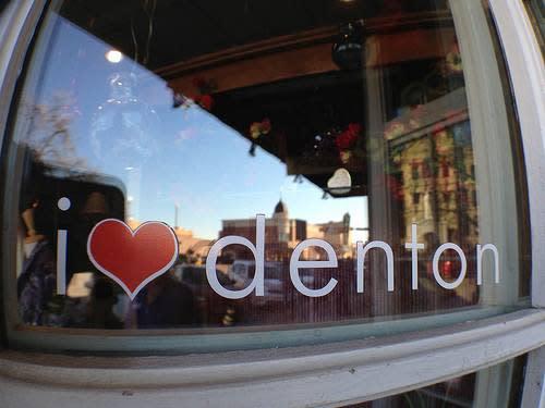 I heart Denton by Sarah T Page