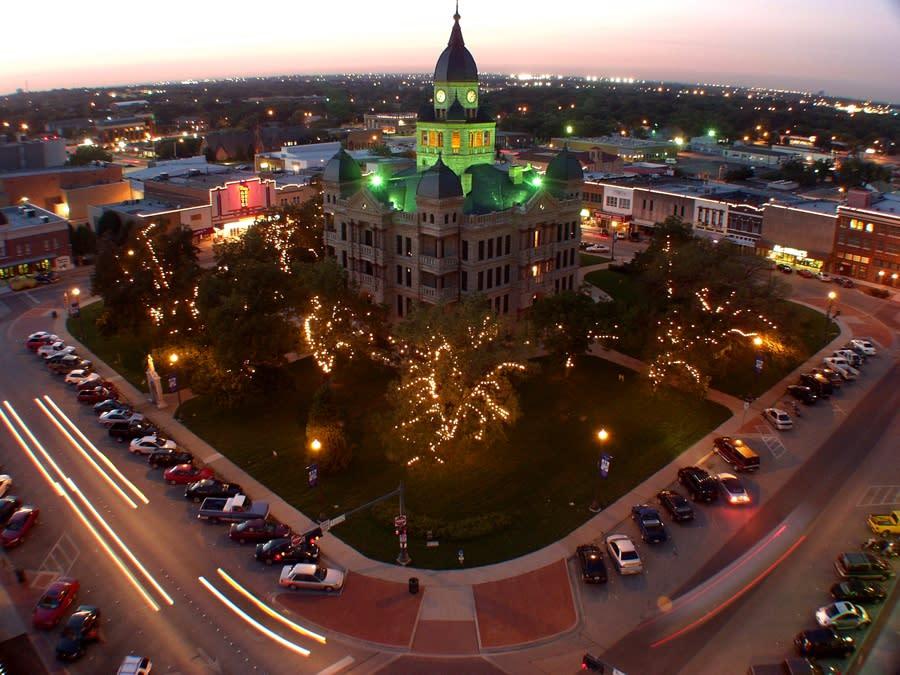Denton County Courthouse-on-the-Square, downtown denton