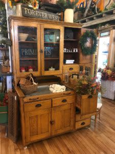 Shopping in Laramie Beautiful Antique Hutch at The Bent & Rusty