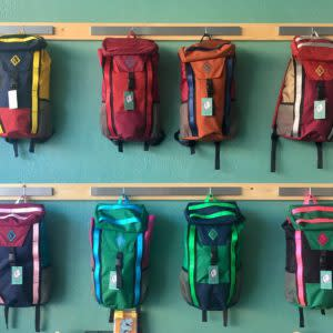 Shopping in Laramie Hand-made backpacks at Atmosphere Mountainworks