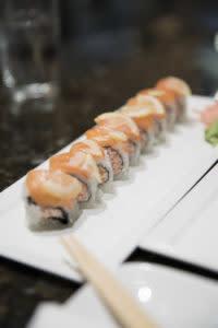 Mizu Sushi Salmon Rolls