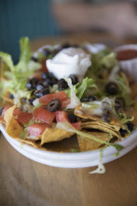 Sweet Melissa black bean nachos