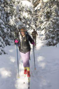 Cross country skiing in Laramie Wyoming Snowy Range
