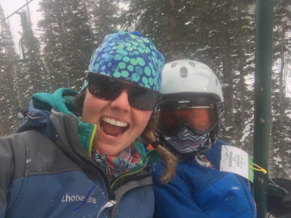 Family skiing at Snowy Range Ski Area