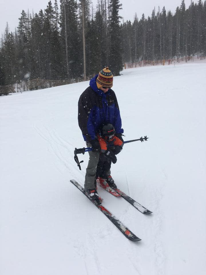 Kids learning to ski at Snow Range Ski Area