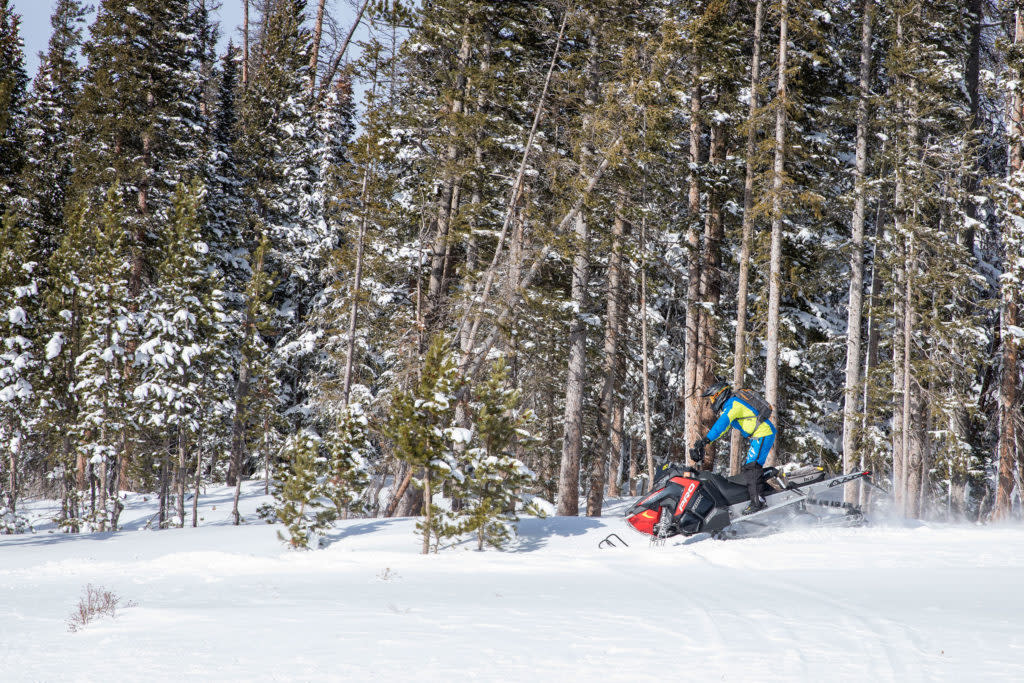 Guide to snowmobiling in the snowy range mountains