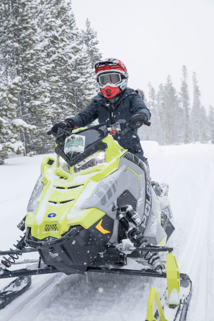 Explore snowmobiling in the Snowy Range Wyoming