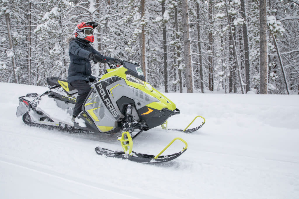best snowmobiling destinations in wyoming