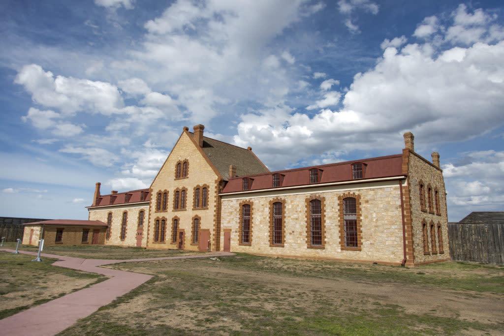 Laramie Wyoming Territorial Prison Historic Site Clouds