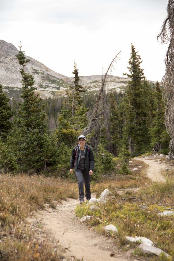 Local favorite Medicine Bow Peak trail near Laramie, Wyoming