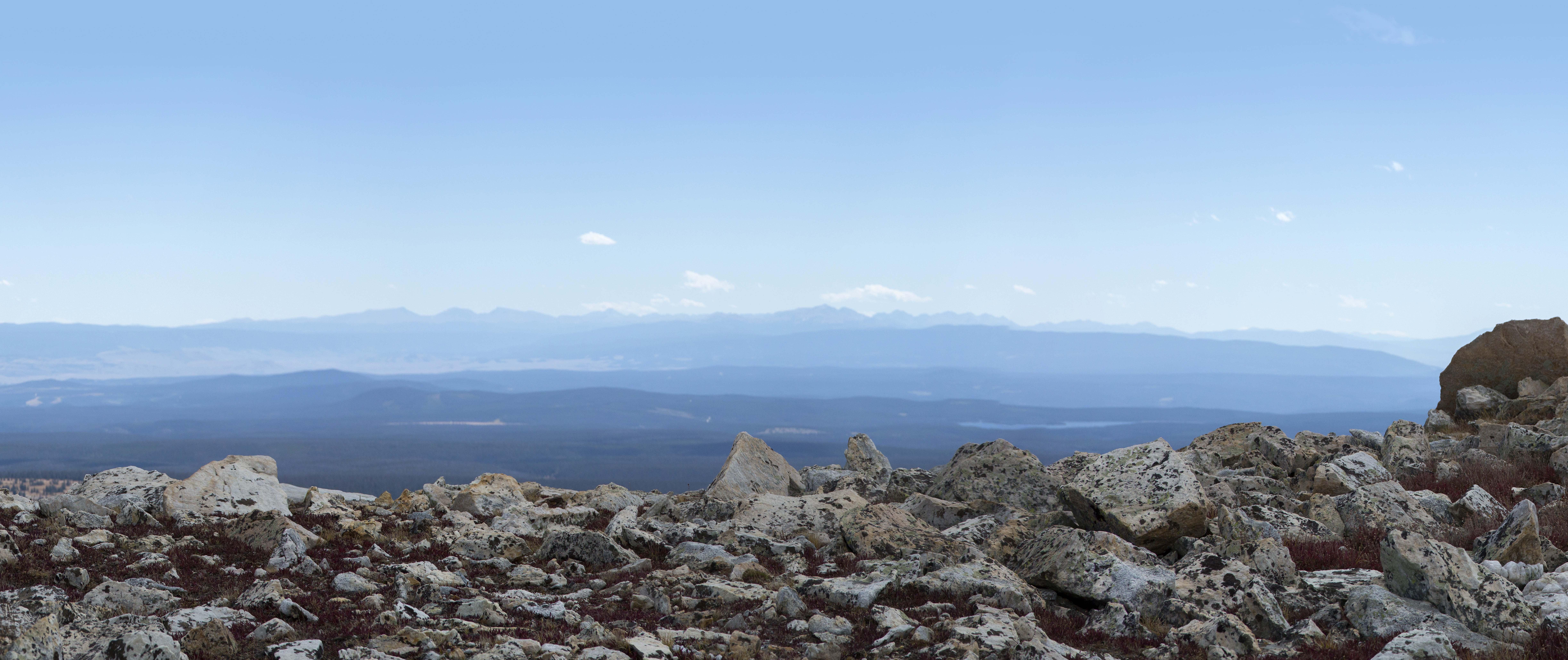 Hiking Medicine Bow Peak trail near Laramie, Wyoming