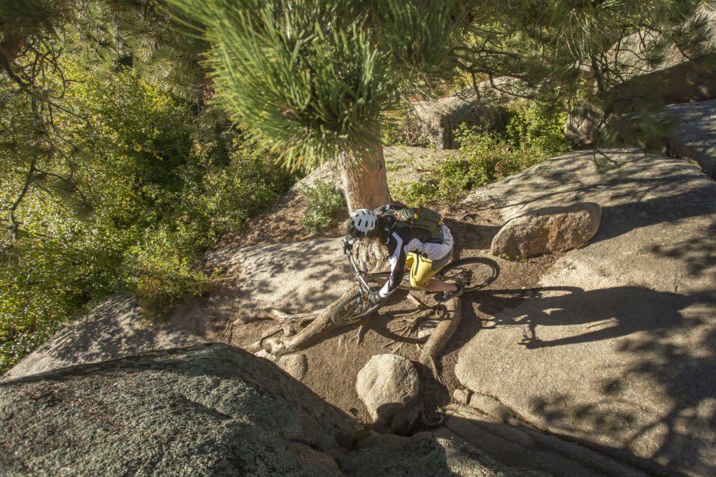 mountain biking Laramie sherman granite