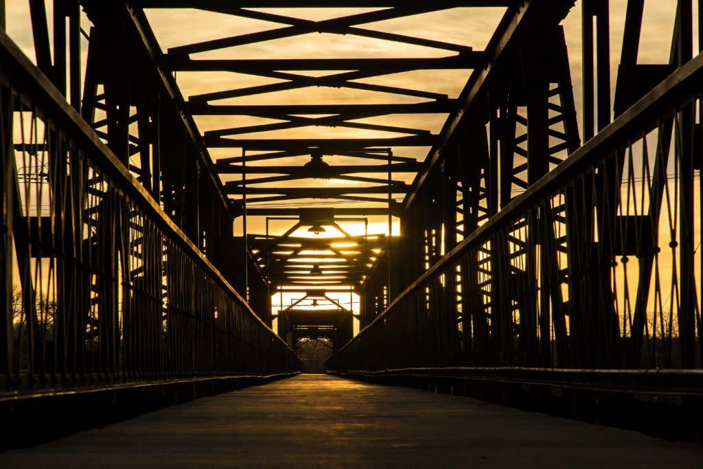 Visit Laramie Union Pacific Railroad Bridge Sunset