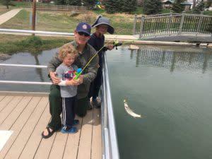 Wyoming fishing Huck Finn Fishing Pond