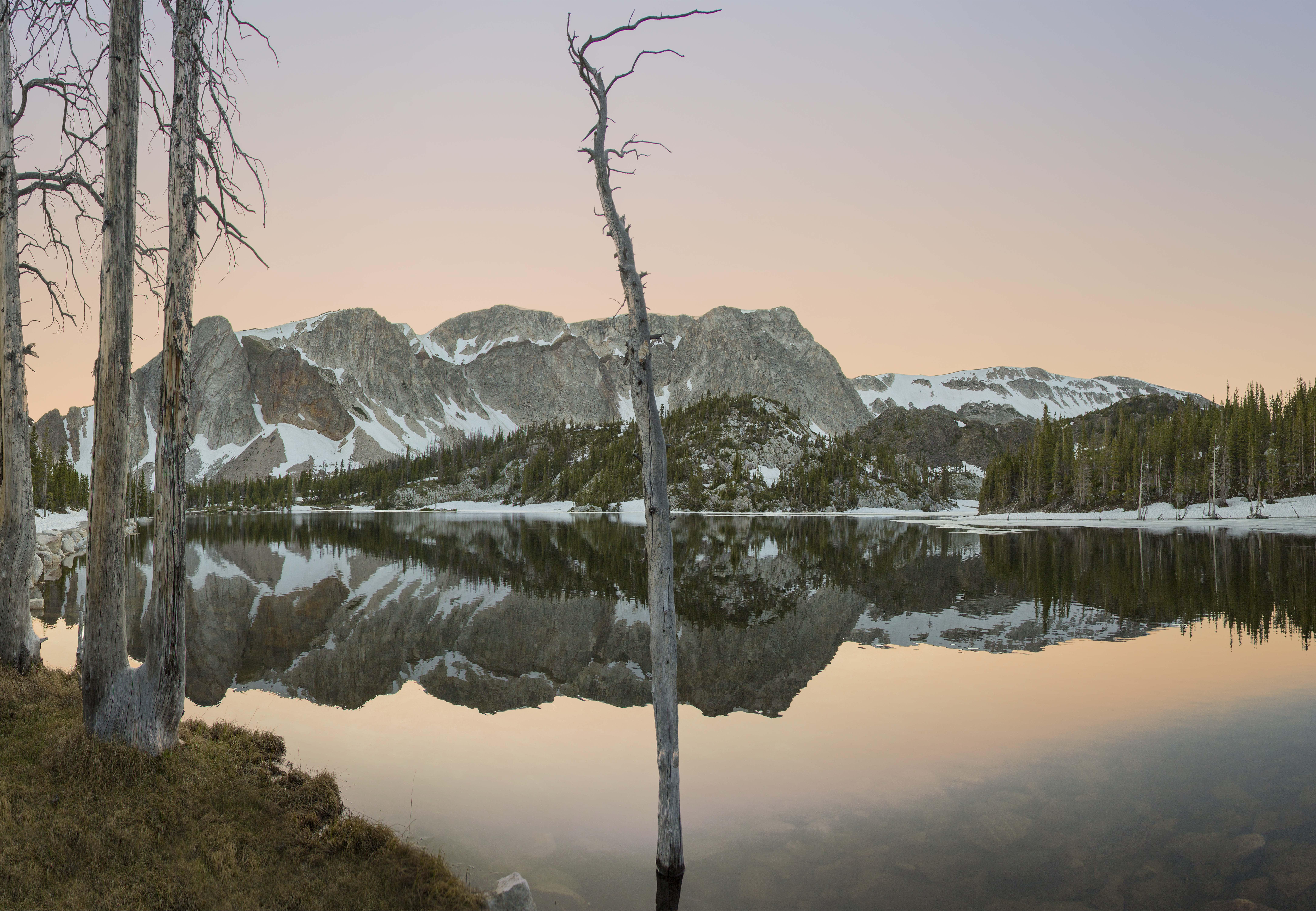 Wyoming sunset photography Medicine Bow Peak Lake Marie Sunset BHP Imaging
