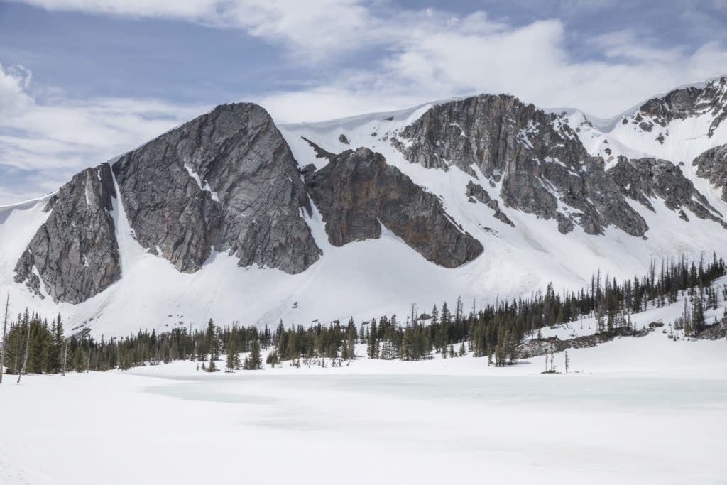 Wyoming scenery along the Snowy Range Scenic Byway