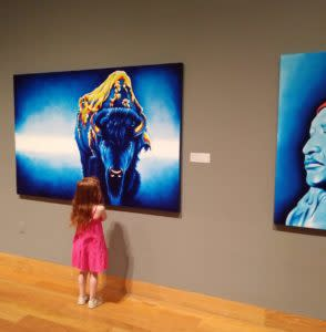 Sightseeing stop in Laramie UW Art Museum