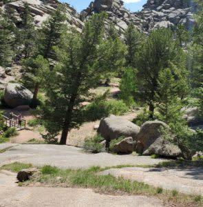 On the route to Yellowstone do some sightseeing at the Vedauwoo Recreation Area