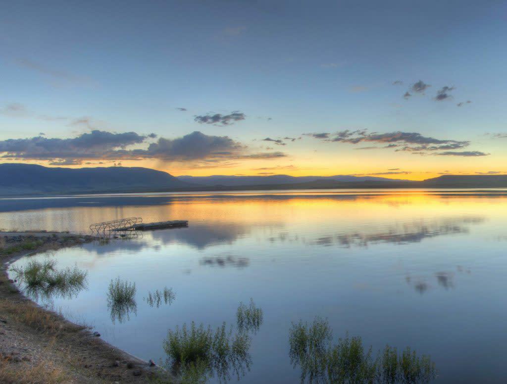 Lake Hattie Laramie Plains Lakes Fishing Sunset