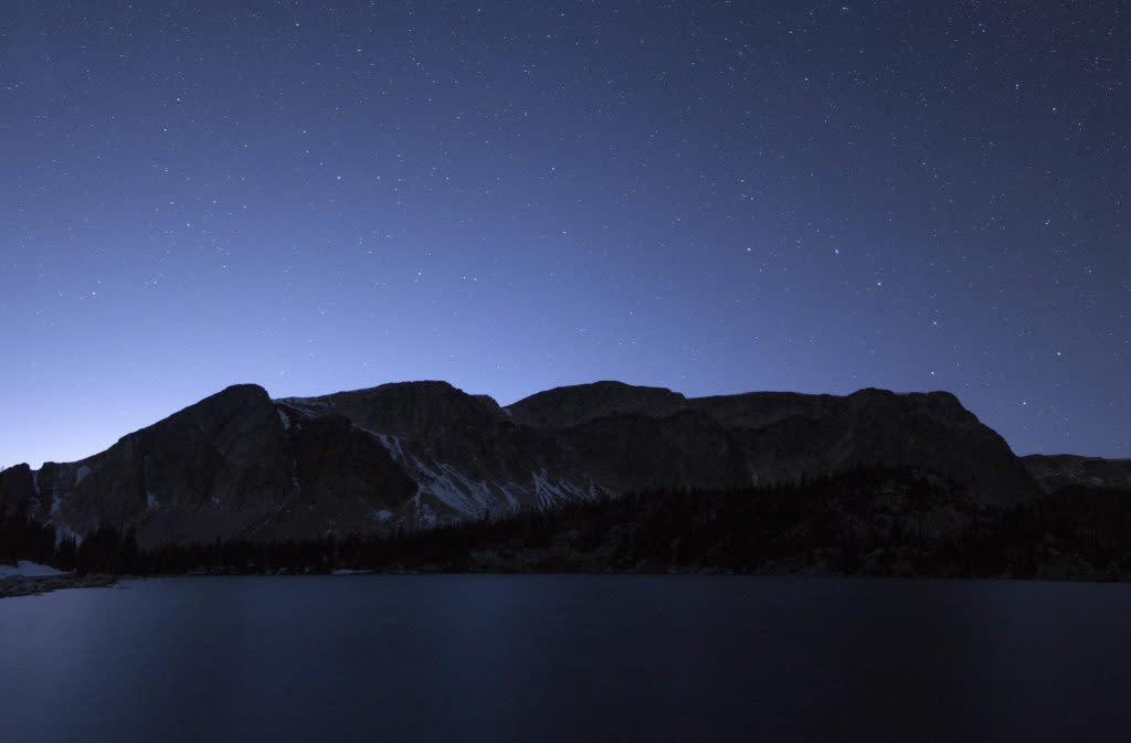 Medicine Bow Peak Snowy Range stargazing stars astrophotography mountain