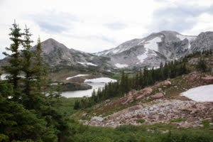Backpacking the Snowy Mountain Range in Wyoming