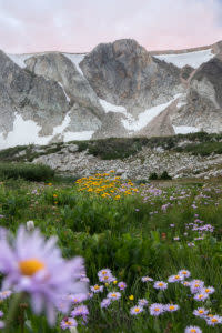 Snowy Range Mountains in Wyoming