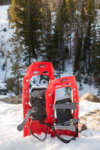 winter snowshoes snowshoeing Laramie Wyoming