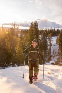 Snowshoeing Laramie Wyoming winter activities
