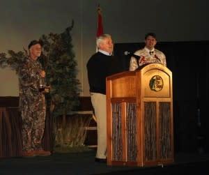 Dan Kinney Accepting Pinnacle Award