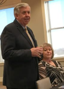 Lt. Gov. Mike Parson spoke with a group of tourism industry representatives in Springfield March 3.