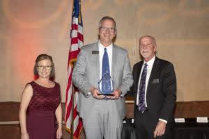 Brian Weiler (center) received the Diplomat Award.