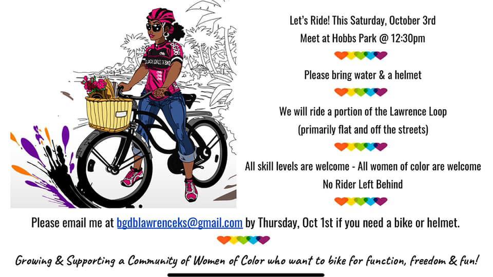 Black Girls Do Bike Lawrence Kansas flyer