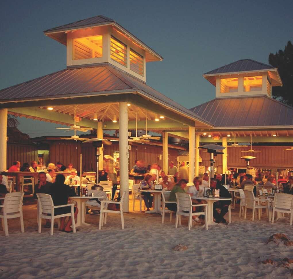 The Sandbar Restaurant on Anna Maria Island, in the evening