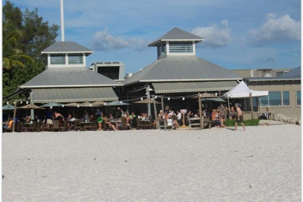 The Sandbar, A toes-in-the-sand restaurant on Anna Maria Island