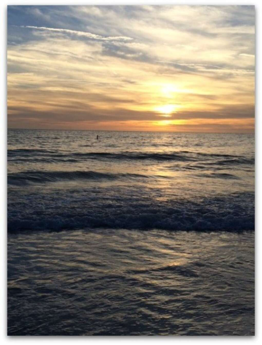 A sunset over the Anna Maria Island waters