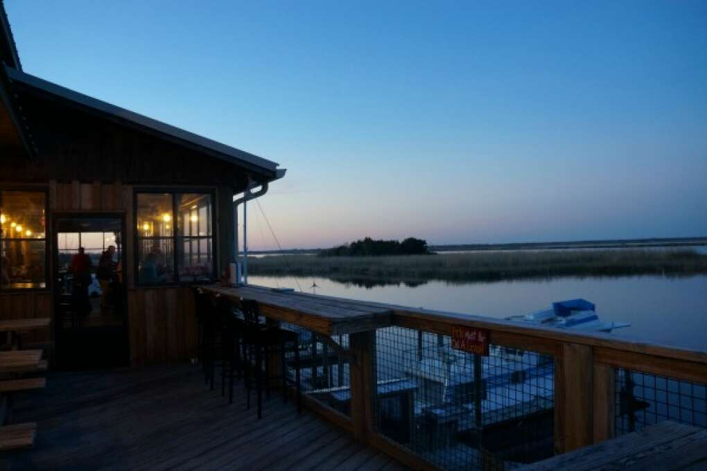 View from Apalachicola's Up The Creek Raw Bar