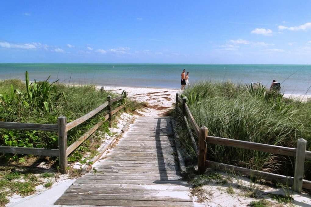 Walkway to Bahia Honda State Park Sandspur Beach