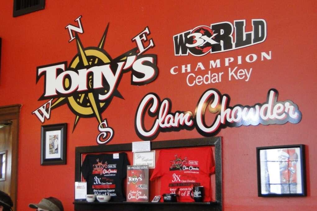 Tony's Clam Chowder Captiva Island