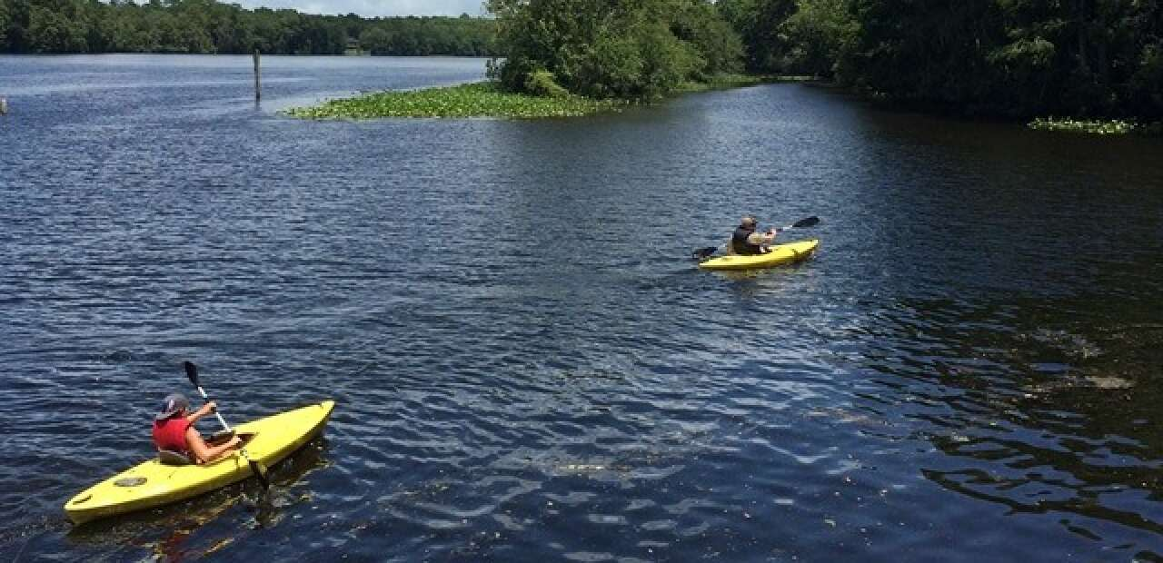 canoes and boating to nearby islands near Levi county