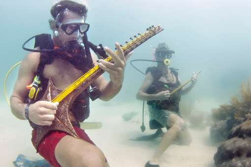 Underwater Music Festival divers