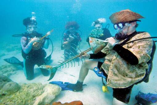 Don't miss the Underwater Music Festival in the Florida Keys.
