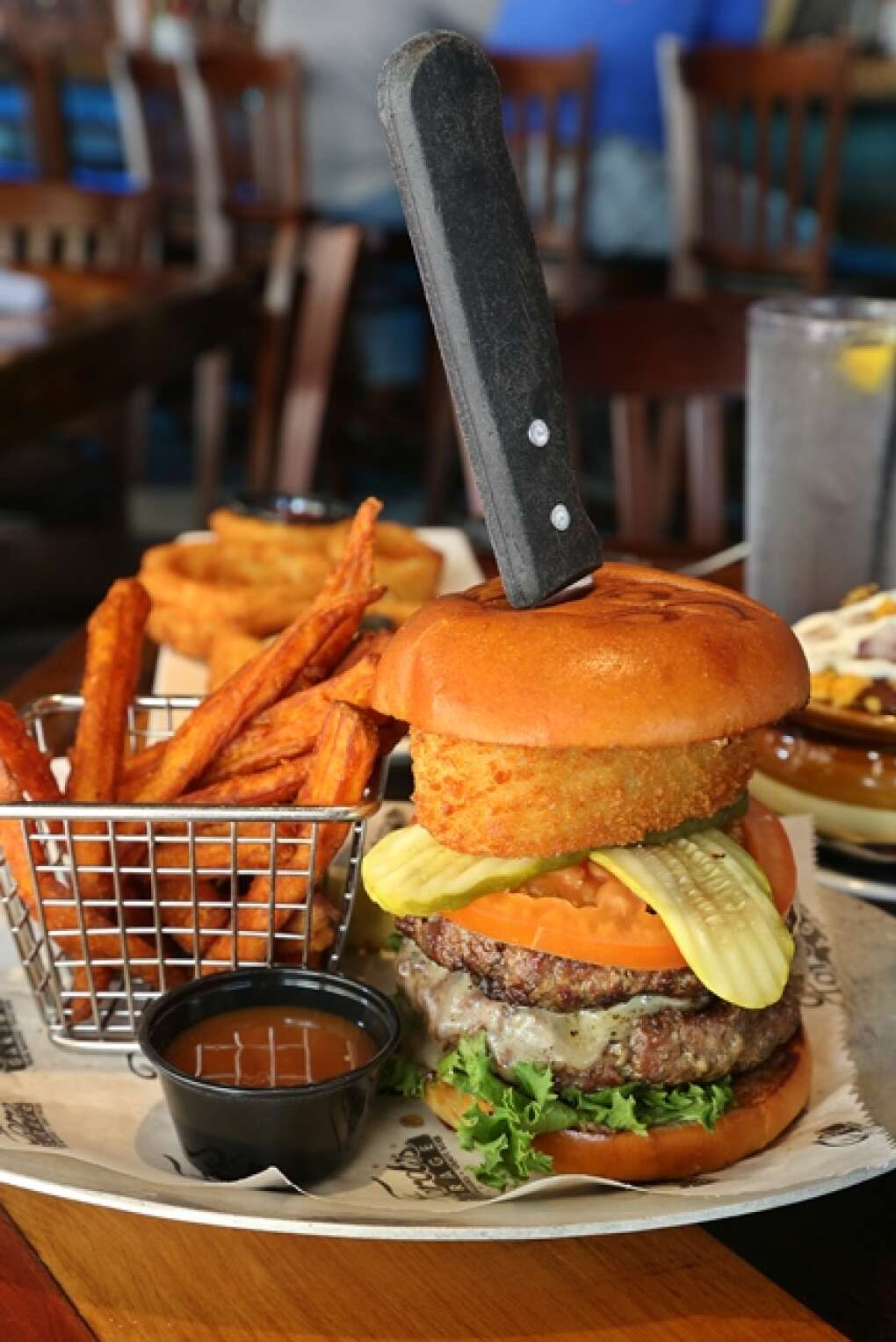 Ford's garage burger and fries at fort myers river district