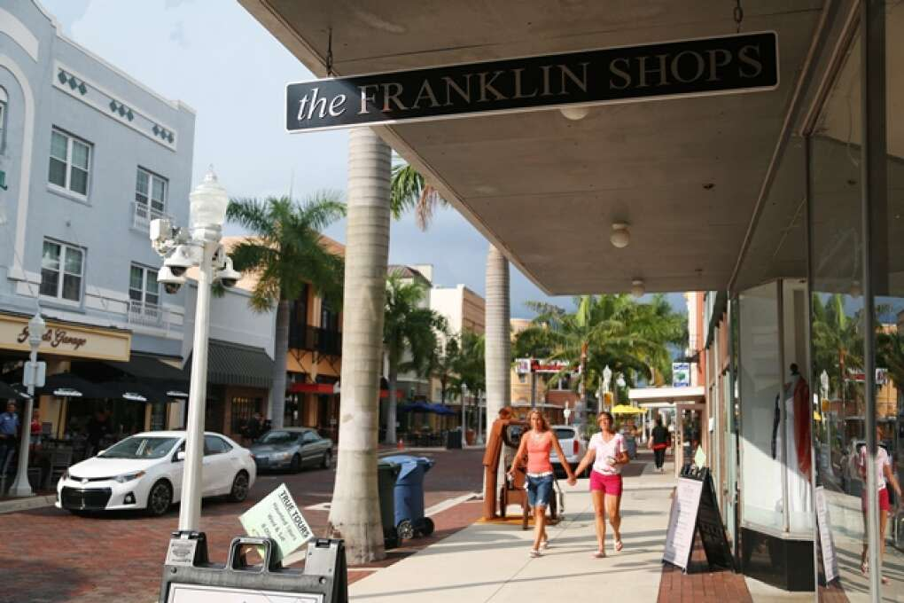 walking down the fort myers river district