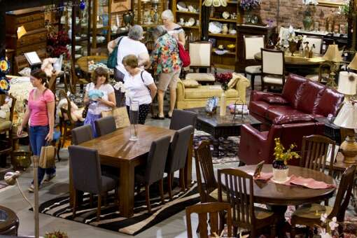 The Antique and Design center is one among many stores in Havana featuring contemporary and antique furnishings.