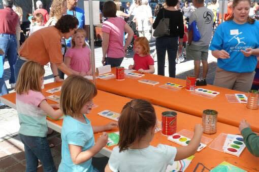 Kids activities at Riverside Arts Market
