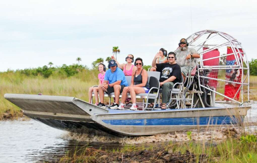 Crazy Fish offers airboat tours for a thrilling view of the Jacksonville area.