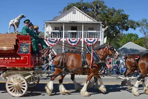 A Festival parade near Fort Myers Florida