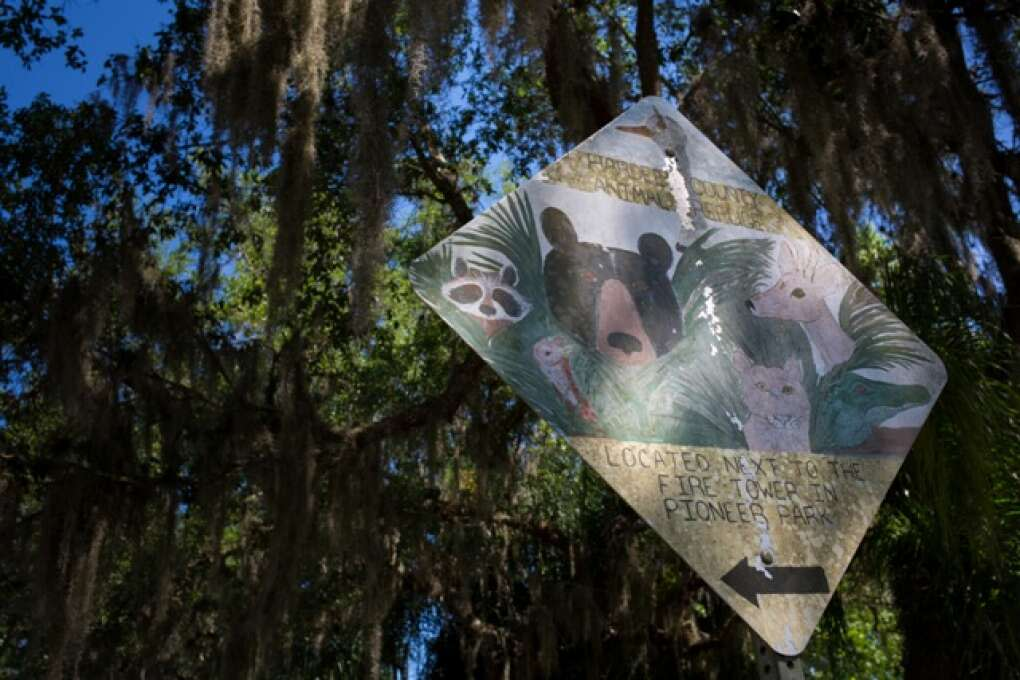 A sign welcomes visitors to the Hardee County Wildlife Refuge in Zolfo Springs, Florida on March 2, 2015. VISIT FLORIDA/Scott Audette