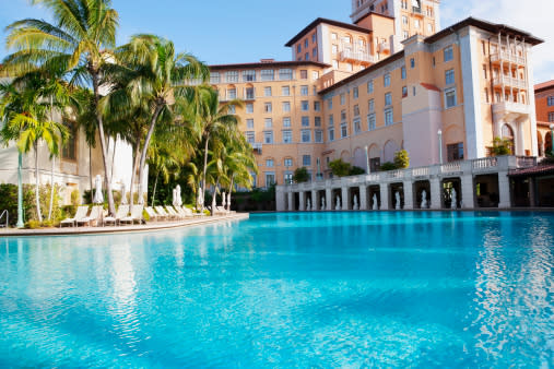 The Venetian Pool at the Biltmore Hotel in Coral Gables, FL