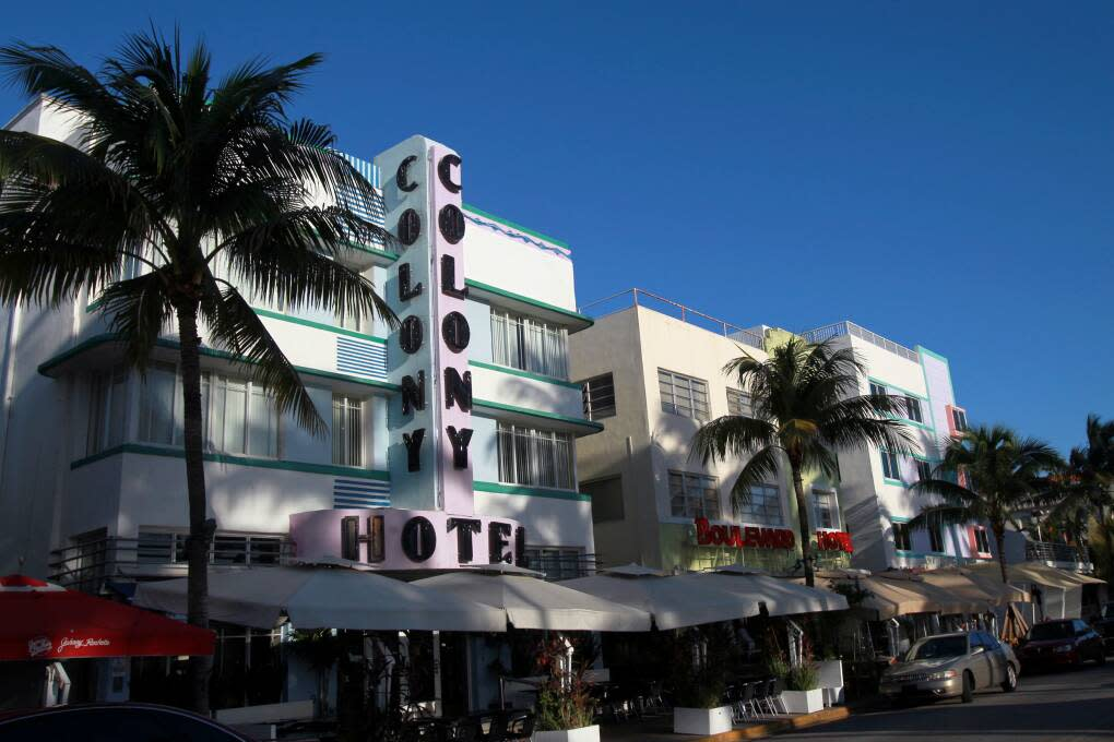 The Colony Hotel at Miami's Art Deco District